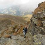 Aufstieg mit Seil gesichert
