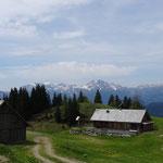 die Jadersdorfer Ochsenalm (kurz vor der Kohlröslhütte)