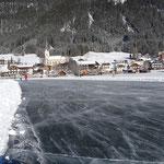Perfekte Bedingungen auch beim Eislaufen....