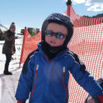 Simon nach dem Skirennen