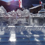 ...beim Servus-TV Alpenpokal Eisstockturnier...