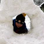 Tunnelbau mit Schnee