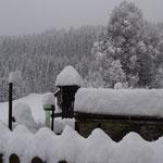 ca. 20 cm Schnee….