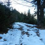 Kurz vor dem Durchspring der erste Schnee