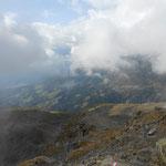 beim Abstieg löste sich der Nebel auf