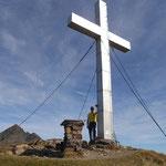 Gipfelfoto Knoten 2216 m