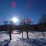 schöne Wintertage bevor der nächste Schnee kommt