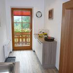 von der Küche Zugang zum Balkon