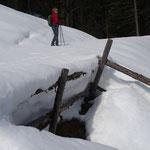 hier oben liegt noch mehr als 1,5 m Schnee
