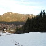 Rückweg über die Skipiste nach Weissbriach