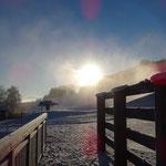 schönes und kaltes Winterwetter