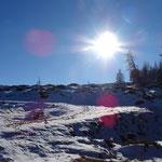 Richtung Hohenwarter Hütte liegt mehr Schnee