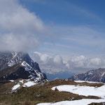 Wolken am Gipfel vom Reißkofel