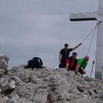 Gipfelfoto mit Siegi, Hans, Klaus und Gerald