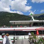 zurück fuhren wir mit dem Schiff, der Alpenperle
