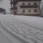 winterlich die Straßen