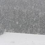 zwischendurch immer wieder starker Schneefall
