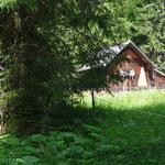 """vorbei an der """"Holzknechthütte"""""""