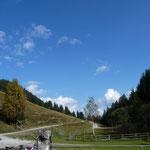 Richtung Gitschtal war blauer Himmel
