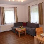 Wohnzimmer mit Couch (Schlafmöglichkeit)