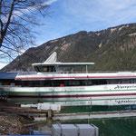 """die """"Alpenperle"""" das neue Ausflugsschiff vom Weissensee"""