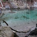 farbenprächtig das Wasser in der Klamm