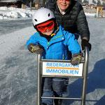 beim Eislaufen am Weissensee