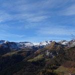 tolles Panorama beim Aufstieg