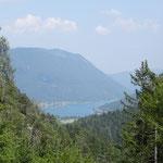 Blick vom Grafenweger Höhenweg zum Weissensee