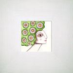 NINFA VERDE. Acuarela y lápiz sobre papel. 11 x 11cm. (25,5 x 25,5cm con marco). No disponible.