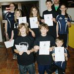 Lentinger Einrad 2012: Herzlichen Gückwunsch zu euren bestandenen ELA- und Skill Level Prüfungen!