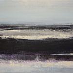 Nocturen #8, acrylverf, pigment op linendoek, 40x50cm / 2013