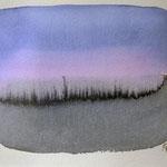 'Sunset' #a-3 / aquarelverf op papier, 13x18cm / 2013 / sold