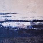 Nocturen #6, acrylverf, pigment op linendoek, 51x51cm / 2013 / verkocht