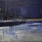 Nocturen #10, acrylverf, pigment op linendoek, 40x50cm / 2013