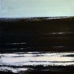 Nocturen #9, acrylverf, pigment op linendoek, 50x50cm / 2013 / verkocht