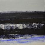Nocturen #7, acrylverf, pigment op linendoek, 40x40cm / 2013