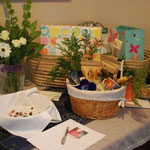 Welcome table at Mothers Blessing
