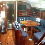 """Segel-Yacht """"Don Emilio"""", Innenansicht"""