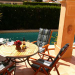 Ferienhaus Mallorca, Terrasse