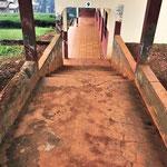 Escaliers et parcours de marche en extérieur