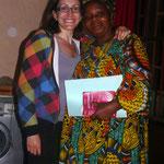 Avec Félicité, chef du service kiné de Mbouo