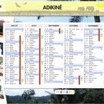 Calendrier Adikiné 2012