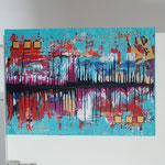mirror, Größe 70 x 50 cm, vergeben - Sylvio Zornsch