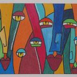 faces, Größe 70 x 50 cm - Sylvio Zornsch