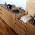 炊飯器の収納スペース。