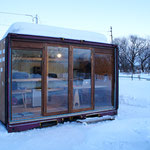 デッキ設置前の冬の様子