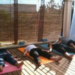 Yoga auf der Yogaterrasse