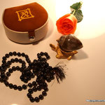 Heera Shank mit Hakeek Rosary ( Achat Mala )