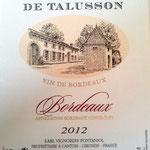 Bordeaux rouge 2012